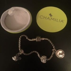 Authentic Chamila Bracelet with 3 charms